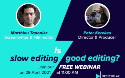 WEBINAR on 29 April 2021 – Is slow editing good editing?